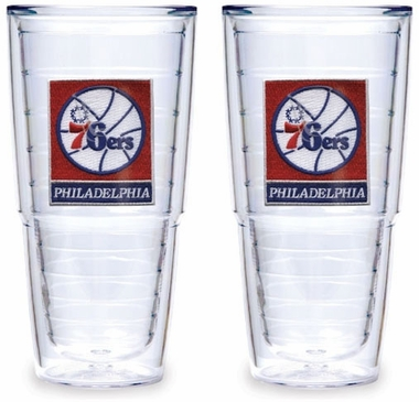 Philadelphia 76ers Set of TWO 24 oz. Tervis Tumblers