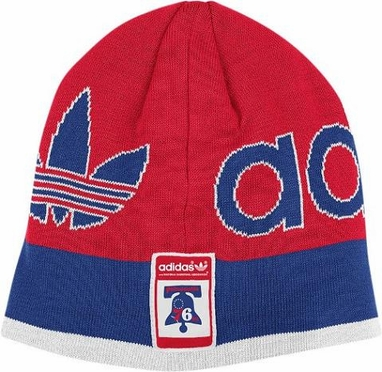 Philadelphia 76ers Throwback Striped Knit Hat
