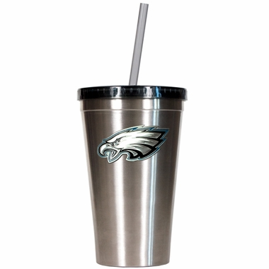 Philadelphia Eagles 16oz Stainless Steel Insulated Tumbler with Straw