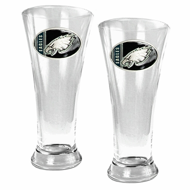 Philadelphia Eagles 2 Piece Pilsner Glass Set