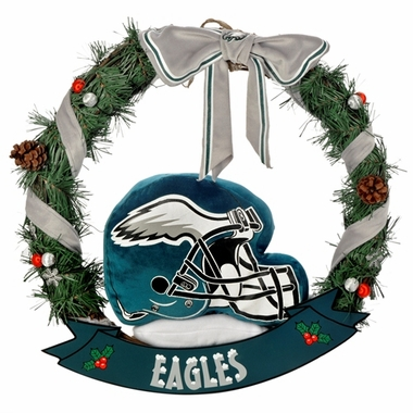 "Philadelphia Eagles 20"" Helmet Door Wreath"