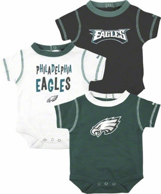 Philadelphia Eagles 3 Pack Creeper Set