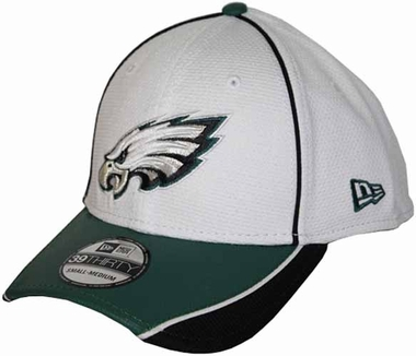 Philadelphia Eagles 39THIRTY Abrasion Plus Fitted Hat - White