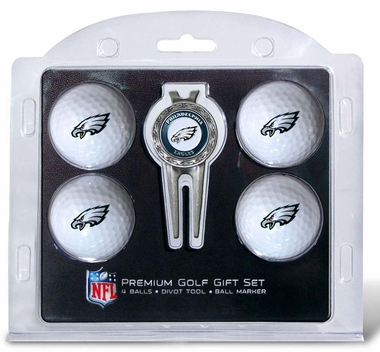 Philadelphia Eagles 4 Ball and Divot Tool Set