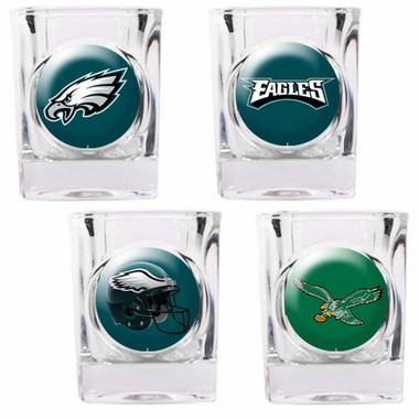 Philadelphia Eagles 4 Piece Assorted Shot Glass Set