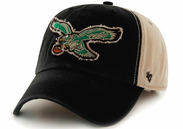 Men's Philadelphia Eagles Pro Line Black Taylor Stretch Fit Hat