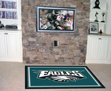 Philadelphia Eagles 5 Foot x 8 Foot Rug