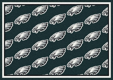 "Philadelphia Eagles 7'8 x 10'9"" Premium Pattern Rug"
