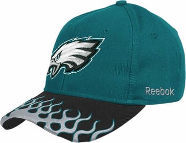 Philadelphia Eagles Adjustable Flames Hat