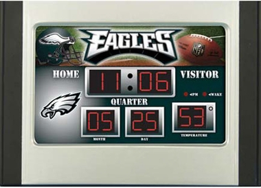 Philadelphia Eagles Alarm Clock Desk Scoreboard