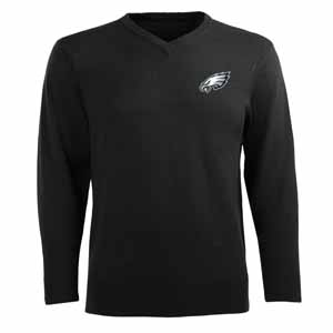 Philadelphia Eagles Mens Ambassador Sweater (Team Color: Black) - Small