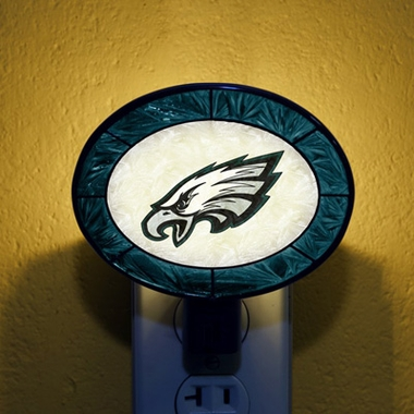 Philadelphia Eagles Art Glass Night Light