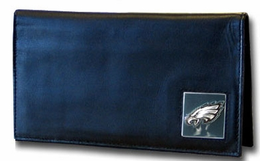Philadelphia Eagles Black Leather Checkbook Cover (F)