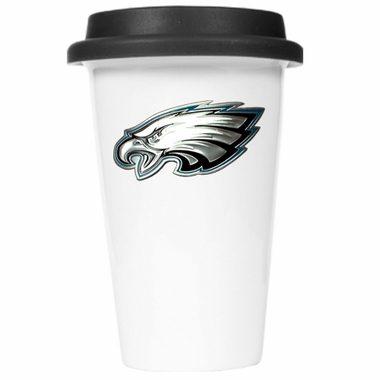 Philadelphia Eagles Ceramic Travel Cup (Black Lid)