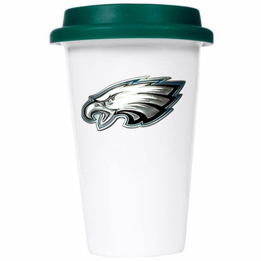 Philadelphia Eagles Ceramic Travel Cup (Team Color Lid)