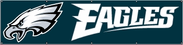 Philadelphia Eagles Eight Foot Banner