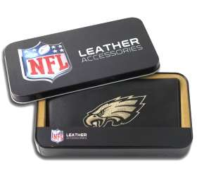 Philadelphia Eagles Embroidered Leather Checkbook Cover
