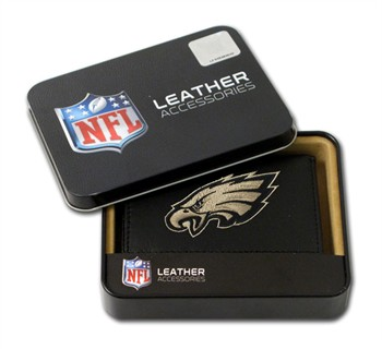 Philadelphia Eagles Embroidered Leather Tri-Fold Wallet