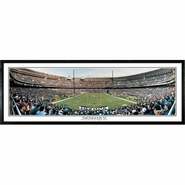 Philadelphia Eagles Final Season At The Vet Framed Panoramic Print
