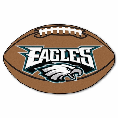 Philadelphia Eagles Football Shaped Rug