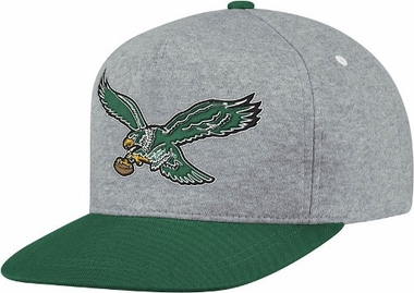 Philadelphia Eagles Heather Pinch Panel Snap Back Hat