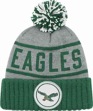 Philadelphia Eagles High 5 Vintage Cuffed Pom Hat