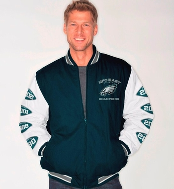 Philadelphia Eagles HOF NFC Champions Canvas Varsity Jacket