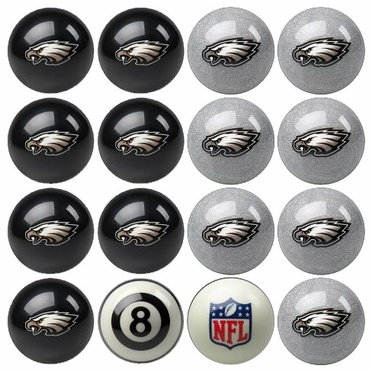 Philadelphia Eagles Home and Away Complete Billiard Ball Set