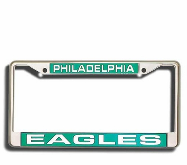 Philadelphia Eagles Laser Etched Chrome License Plate Frame