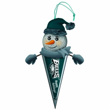 Philadelphia Eagles Light Up Snowman Pennant Ornament (Set of 3)