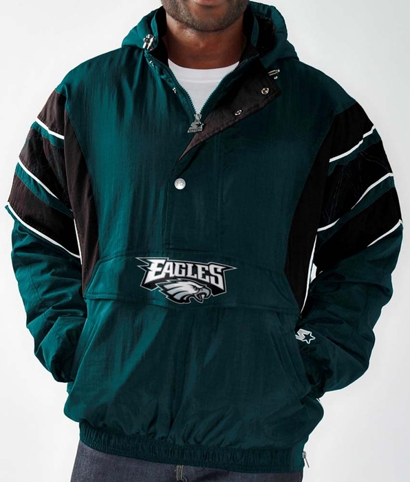 Philadelphia Eagles Men S Starter Impact 1 2 Zip Pullover
