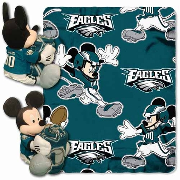 Philadelphia Eagles Mickey Mouse Pillow / Throw Combo