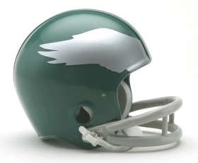 Philadelphia Eagles Mini Replica Throwback Football Helmet