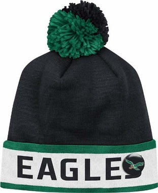 "Philadelphia Eagles Mitchell & Ness NFL Vintage ""Block"" Knit Hat w/ Button"