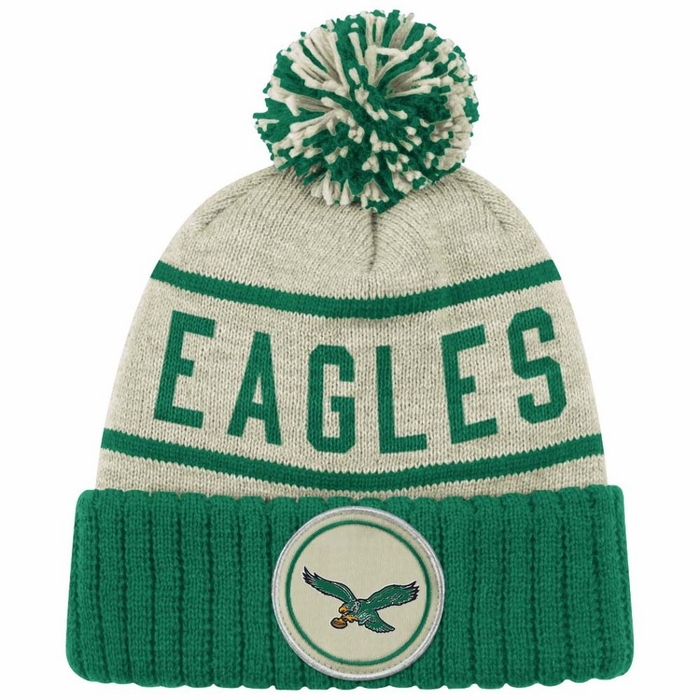 Youth Philadelphia Eagles  Midnight Green Cuffed Knit Hat with Pom
