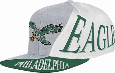 Philadelphia Eagles Mitchell & Ness The Skew Retro Vintage Snap Back Hat
