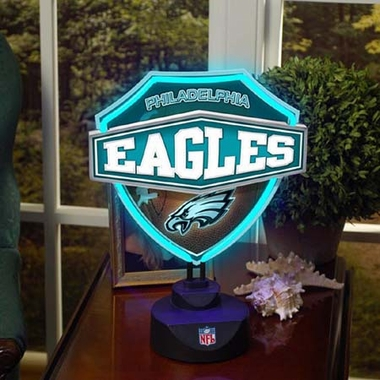 Philadelphia Eagles Neon Shield Table Lamp
