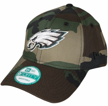Philadelphia Eagles New Era 9Forty NFL Basic Camouflage Adjustable Hat