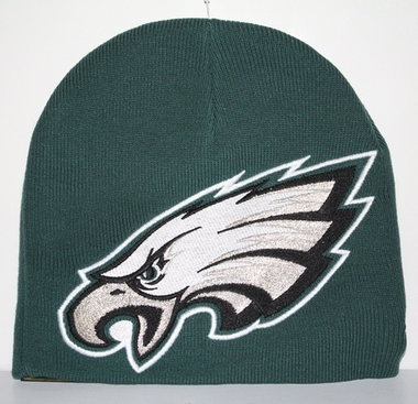 Philadelphia Eagles New Era Big One Too Cuffless Knit Hat