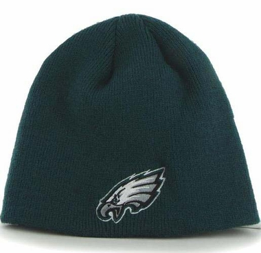 Philadelphia Eagles NFL 47 Brand Team Logo Cuffless Knit Beanie Hat