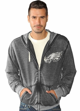 Philadelphia Eagles NFL Downfield Full Zip Burn Out Premium Sweatshirt