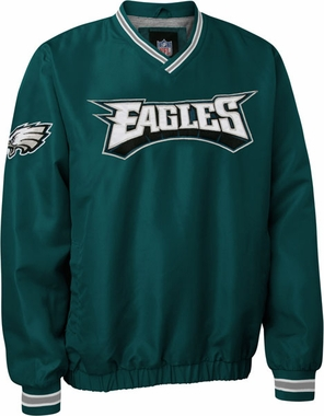 Philadelphia Eagles NFL Pre-Season Wordmark Pullover Green Jacket