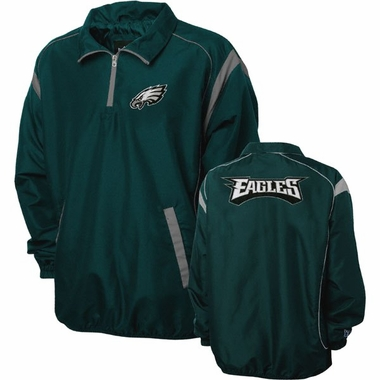Philadelphia Eagles NFL Red Zone 1/4 Zip Green Jacket