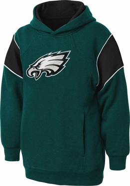Philadelphia Eagles NFL YOUTH Color Block Pullover Hooded Sweatshirt