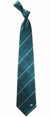 Philadelphia Eagles Oxford Stripe Woven Silk Necktie