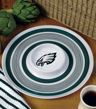 Philadelphia Eagles Plastic Chip and Dip Plate