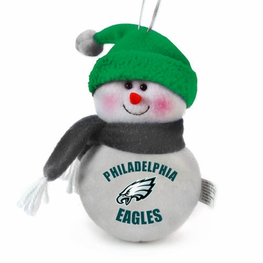 Philadelphia Eagles Plush Snowman Ornament (Set of 3)