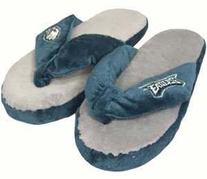 Philadelphia Eagles Plush Thong Slippers