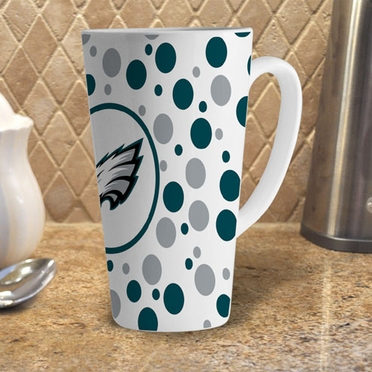 Philadelphia Eagles Polkadot 16 oz. Ceramic Latte Mug