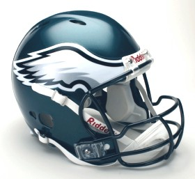 Philadelphia Eagles Riddell Full Size Authentic Revolution Helmet